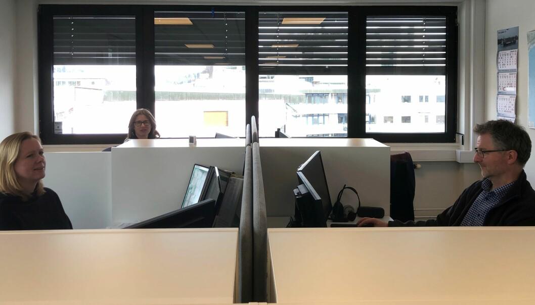 Line Ropstad, May-Britt Thomassen og Marius Eeg trives godt