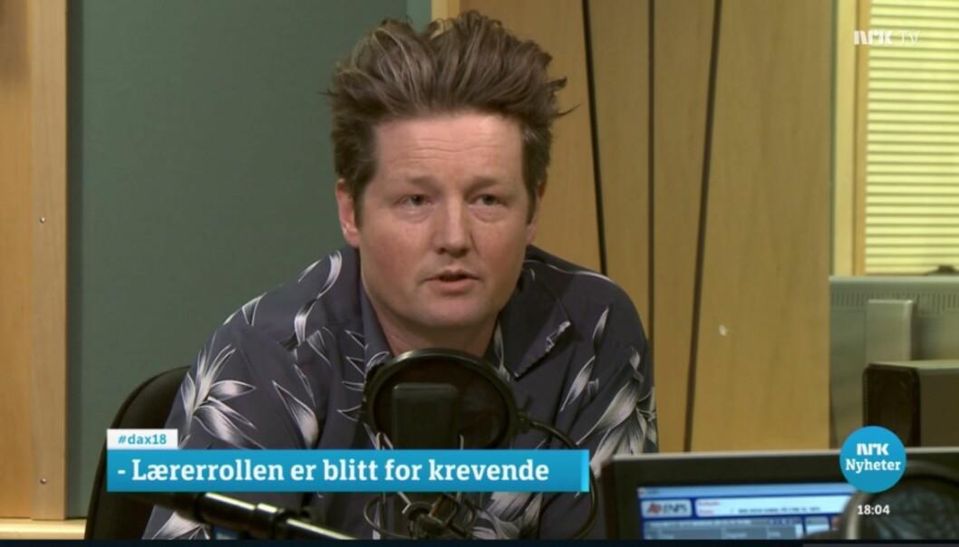 Skjermpdum fra NRK.no, Dagsnytt 18 den 5. mars 2018