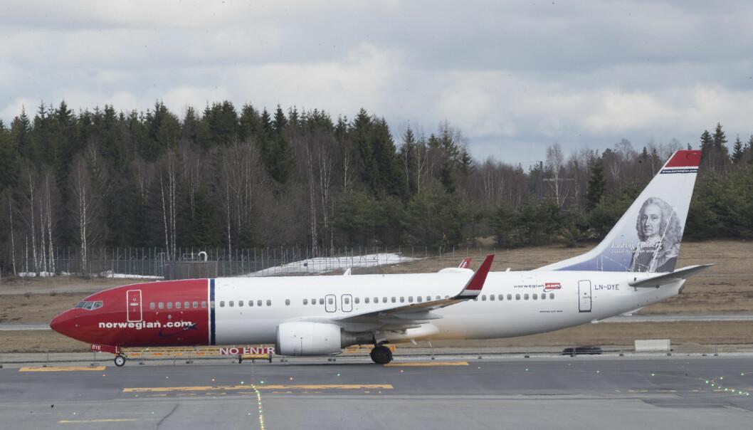 Norwegian-fly. Foto: Scanpix