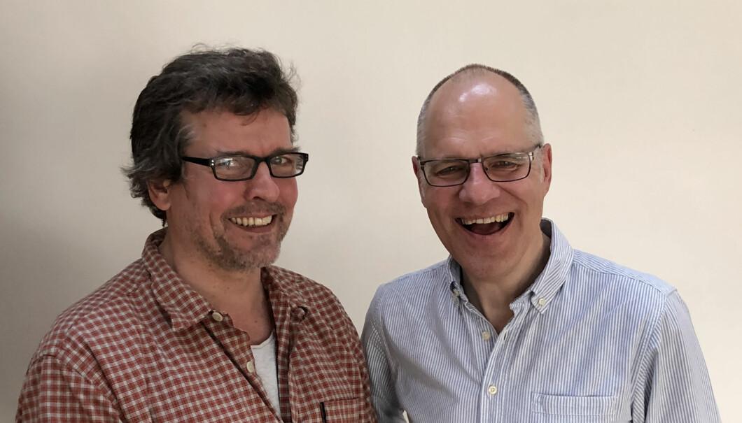 Karl-Fredrik Tangen (tv) og Edgar Valdemanis (th). Foto: Arbeidsnytt