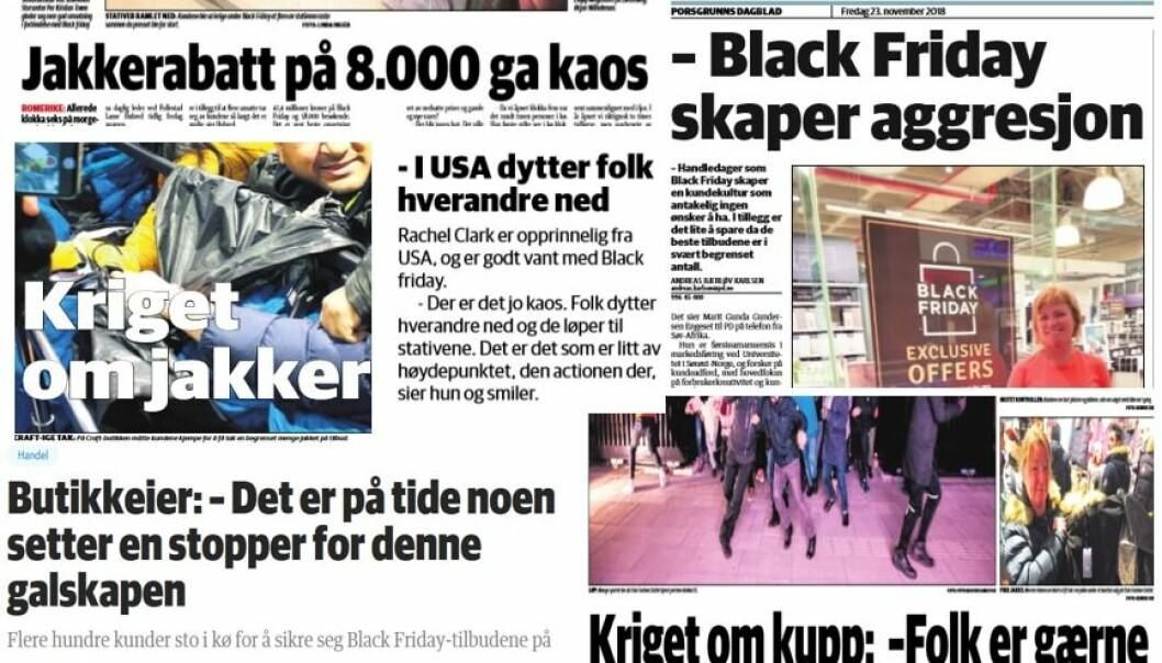 Black Friday skaper aggresjon og kaos også i Norge. Nå protesterer Europiske fagforeninger i frykt for at dette går utover helse, miljø og sikkerhet for de ansatte.