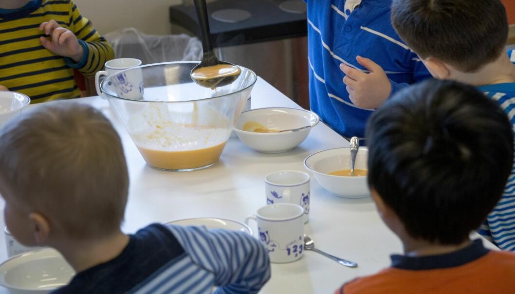 Kommentatoren finner likhetstrekk mellom morgenritualet i en barnehage og i næringslivet. Foto: Gorm Kallestad / NTB scanpix