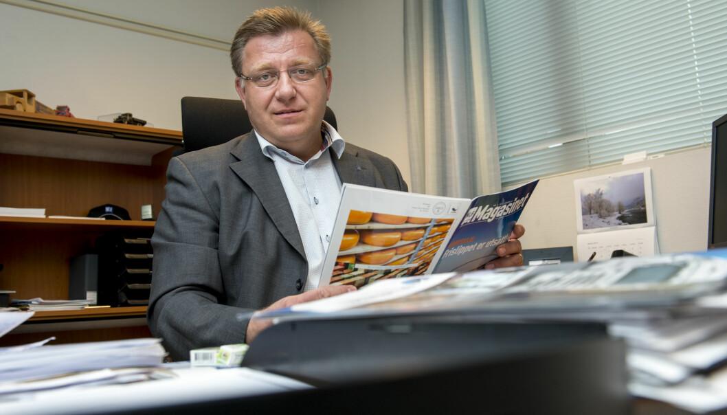 Geir A. Mo, direktør i Norges Lastebileier-Forbund (NLF), frykter at EU-parlamentet kan vanne ut krav til lastebilsjåfører. Foto: NLF.